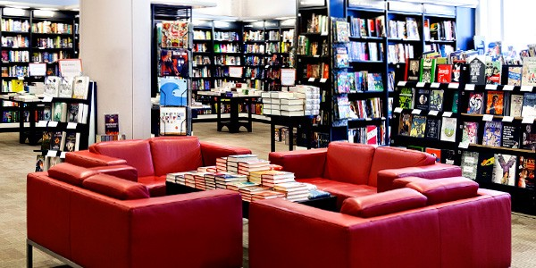 A Waterstones interior - clean and well stocked