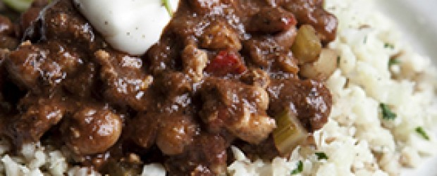 Recipe: Turkey chilli with Cauliflower